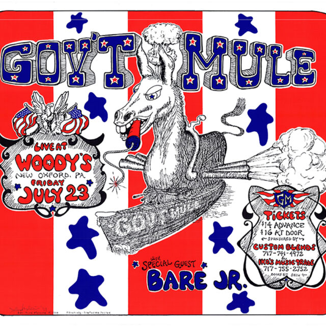 Gov't Mule Live at Woody's Nightclub Artwork by Johnny 'Mo' Mollica